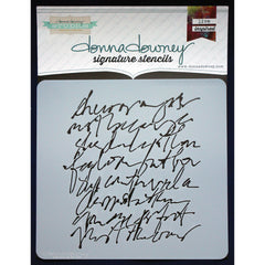 Donna Downey 8x8 Template Scribble Script