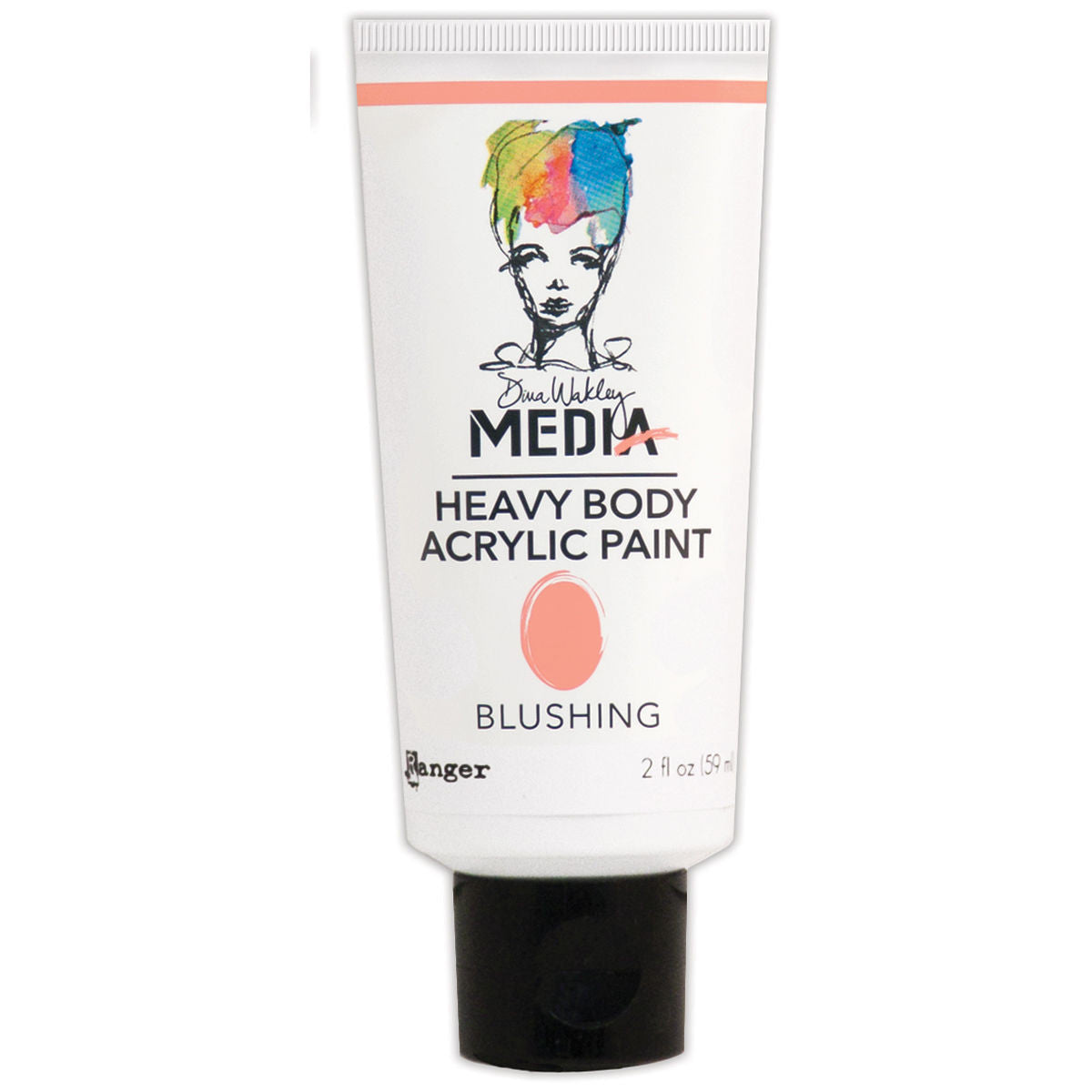Dina Wakley Media Heavy Body Acrylic Paint Blushing