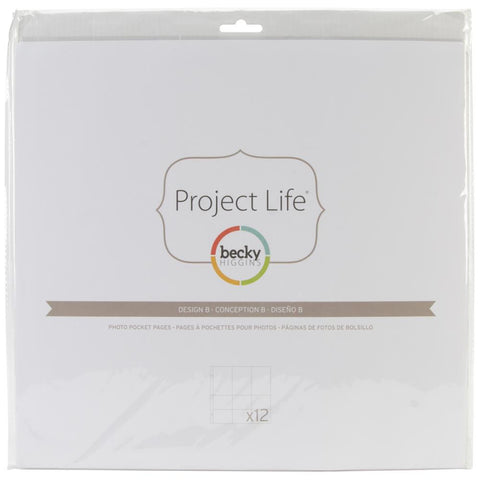 Project Life 12x12 Design A Page Protectors 12 Pack