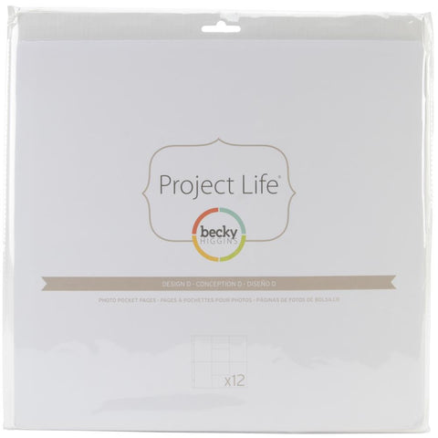 Project Life 12x12 Design D Page Protectors 12 Pack