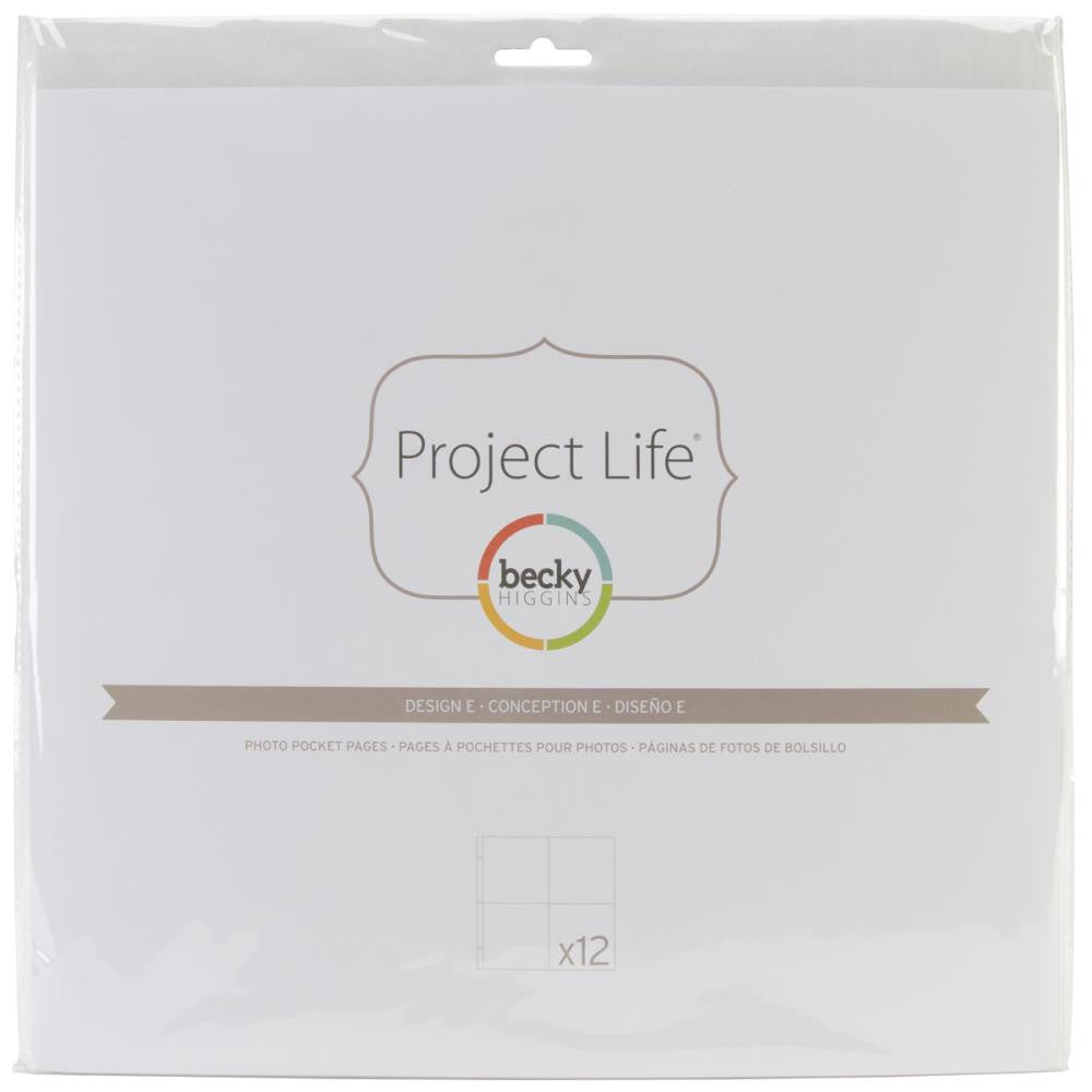 Project Life 12x12 Design E Page Protectors 12 Pack
