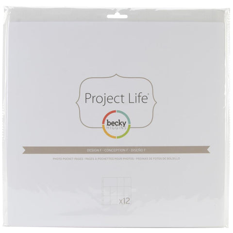 Project Life 12x12 Design F Page Protectors 12 pack