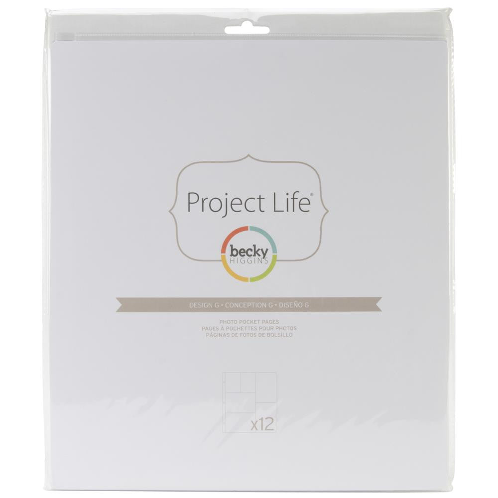 Project Life 12x12 Design G Page Protectors 12 Pack