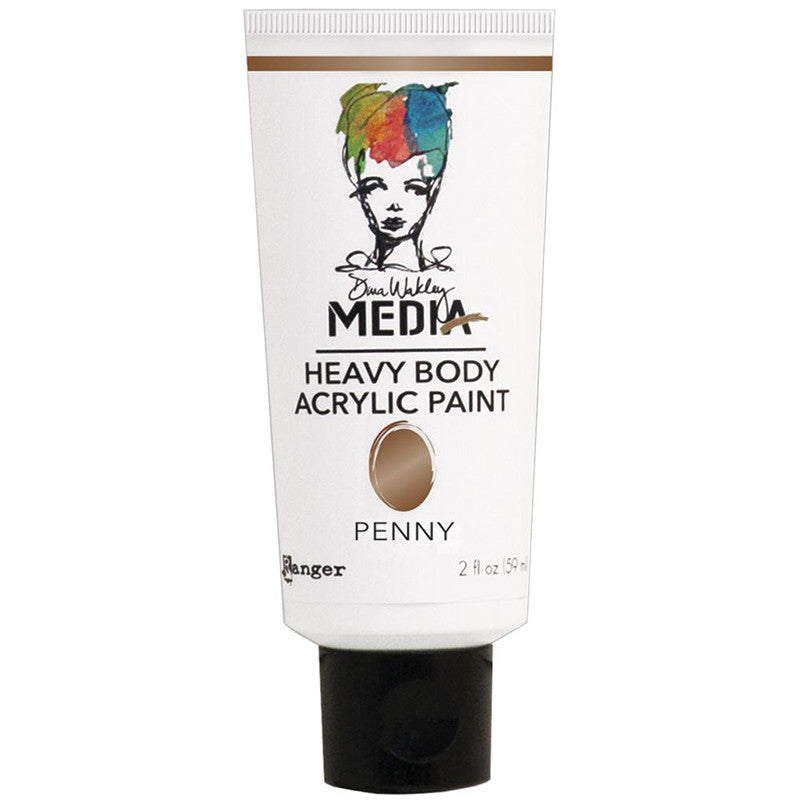 Dina Wakley Media Heavy Body Acrylic Paint Penny