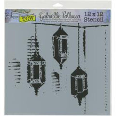TCW 12x12 Stencil Exotic Lamps