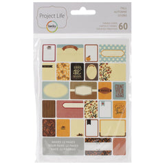 Project Life Themed Cards 60 Pack Fall