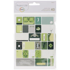 Project Life Themed Cards 40 Pack Golf
