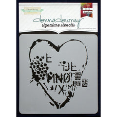 Donna Downey Signature 8x8 Stencil Heart Texture