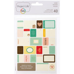 Project Life Themed Cards 40 Pack Home