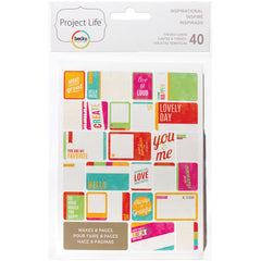 Project Life Themed Cards 40 Pack Inspirational