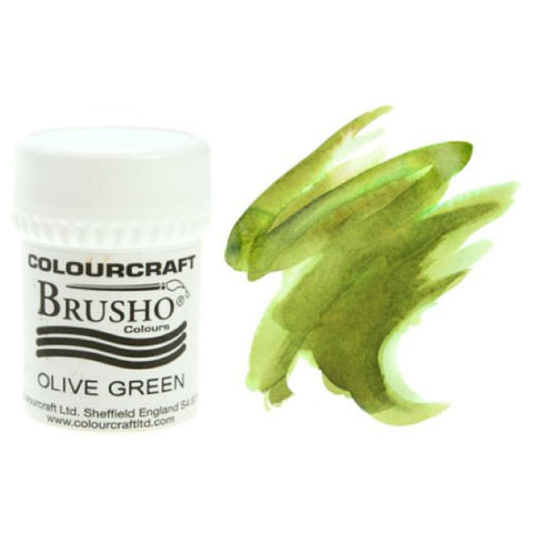 Brusho Colours - Water Colour Powder - Olive Green