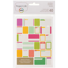 Project Life Themed Cards 40 Pack Journal