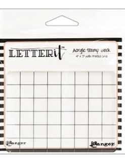 Ranger Letter It Acrylic Stamp Block