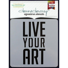 Donna Downey Signature Stencils 8x8 Live Art
