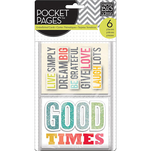 MAMBI Pocket Pages Embellished Cards Good Times