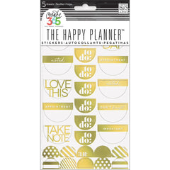 MAMBI The Happy Planner Stickers Take Note Gold Foil