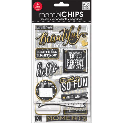 MAMBI Chips Stickers Makes Me Smile