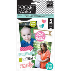 MAMBI Pocket Pages Clear Stickers Coloured