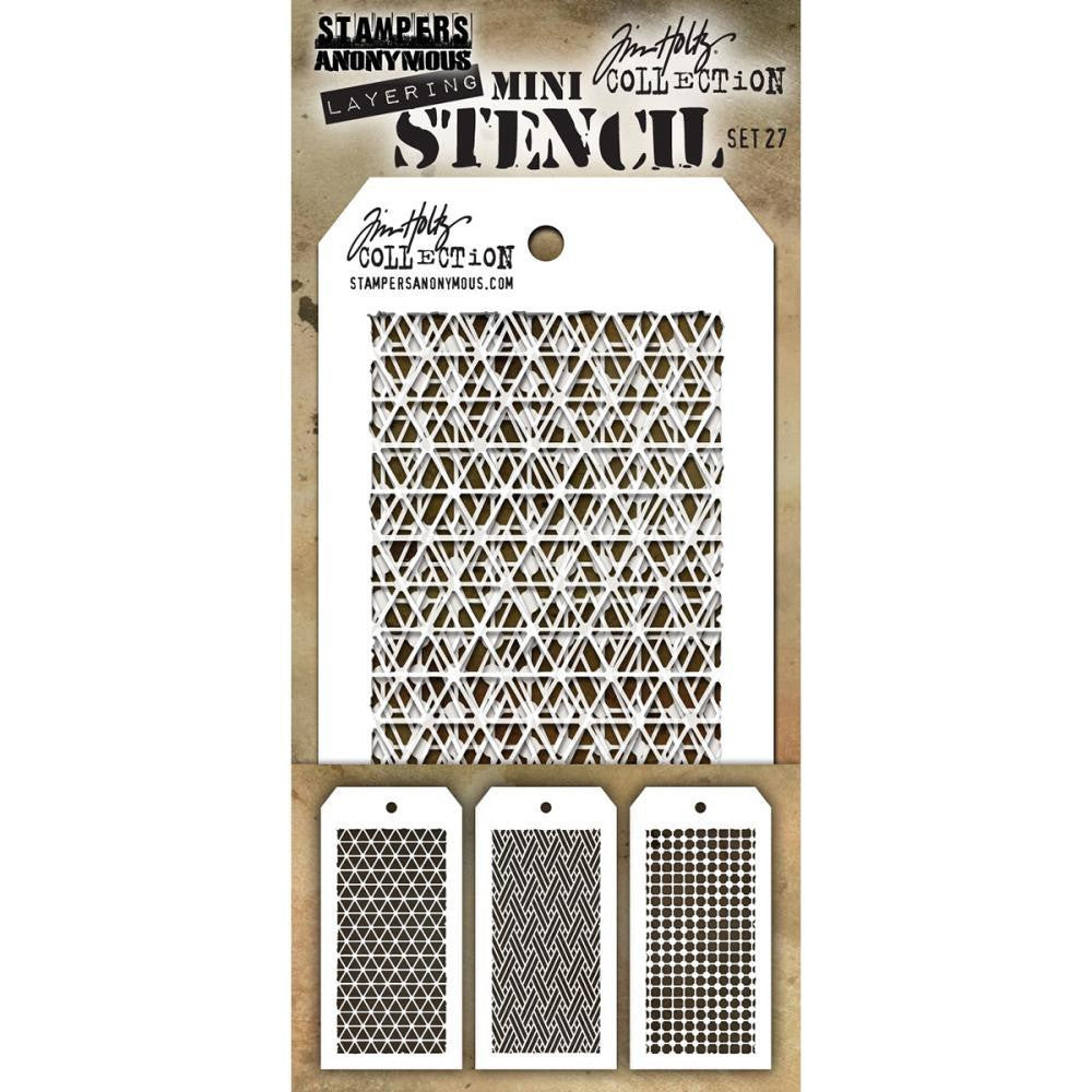 Tim Holtz Layering Mini Stencil Set #27