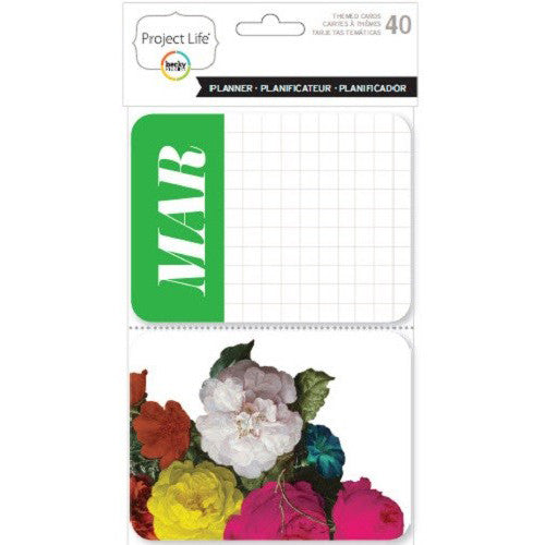 Project Life Themed Cards 40 Pack Planner