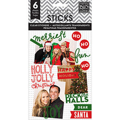 MAMBI Clear Stickers Holly Jolly