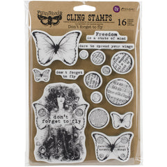 Prima Finnabair Cling Stamp Don't Forget To Fly