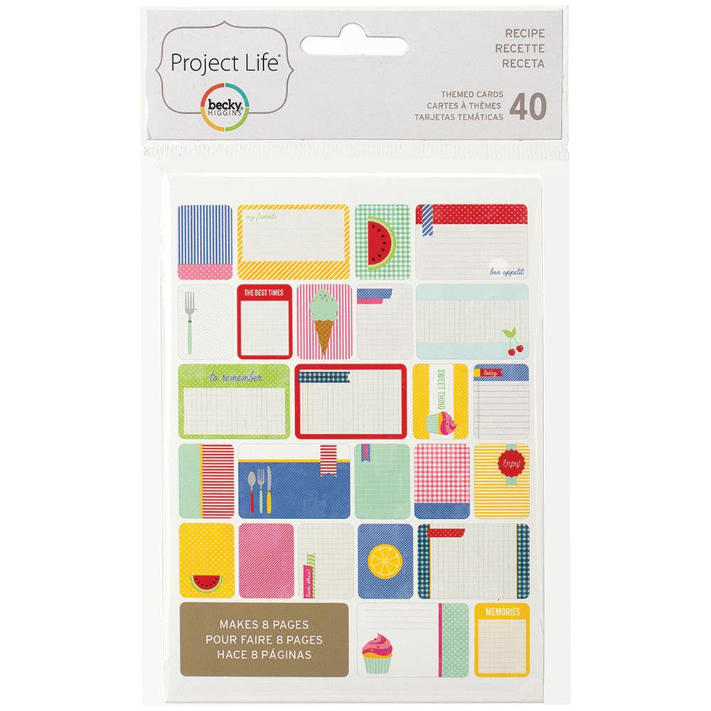 Project Life Themed Cards 40 Pack Recipe
