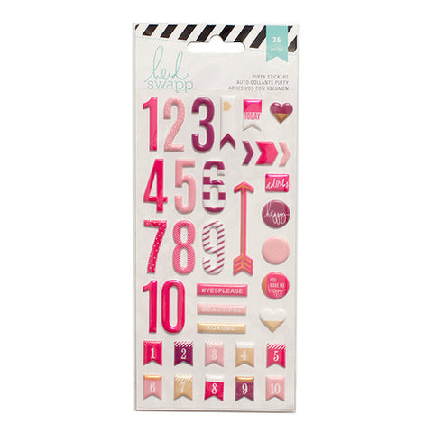 Heidi Swapp Puffy Sticker Numbers Pink