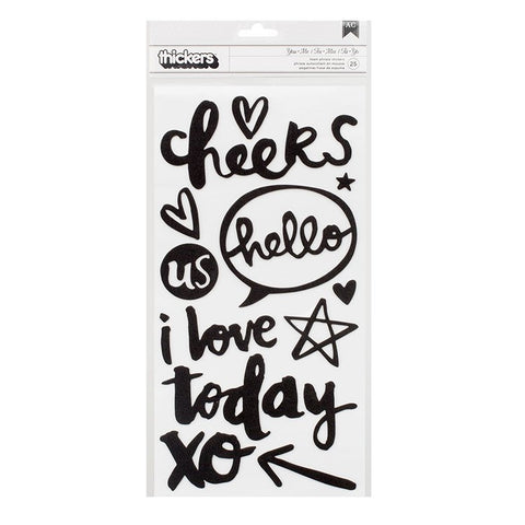 AC Thickers Foam Phrase Stickers You & Me Black