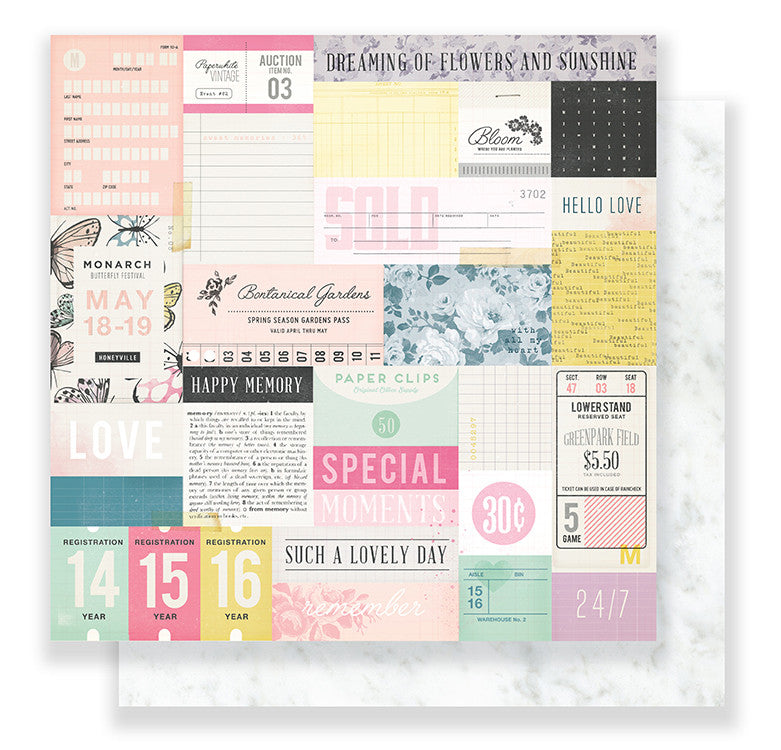 Crate Paper Maggie Holmes Bloom 12 x12 Paper Sweet Rose