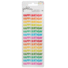 Pebbles Birthday wishes Repeat Stickers Happy Birthday