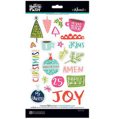Illustrated Faith Chipboard Stickers Advent