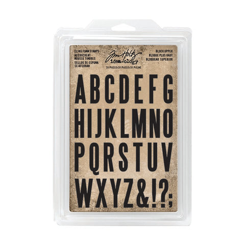Tim Holtz Idea-ology Cling Foam Stamps Block Upper