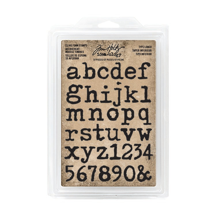 Tim Holtz Idea-ology Cling Foam Stamps Type Lower