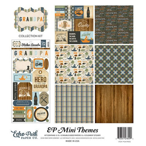 Echo Park Mini Themes Collection Kit Grandpa
