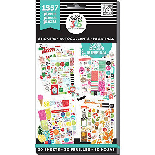 Mambi Create 365 The Happy Planner Colourful Stickers 1557 Pieces