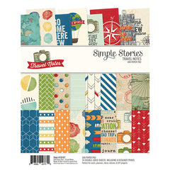 Simple Stories 6x8 paper pad - Travel Notes