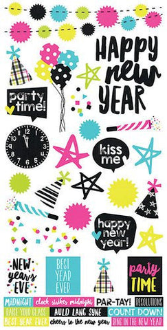Simple Stories Happy New Year Cardstock Stickers