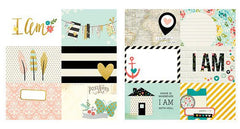 Simple Stories I Am 12x12 Papers 4x6 Horizontal Cards