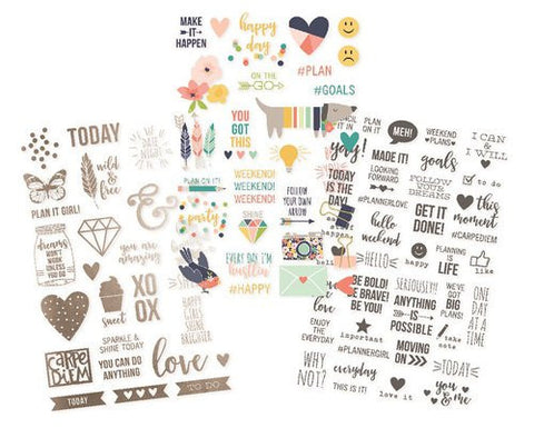 Simple Stories Carpe Diem Posh Clear Stickers