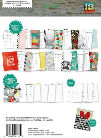 Simple Stories Life In Color Planner Inserts