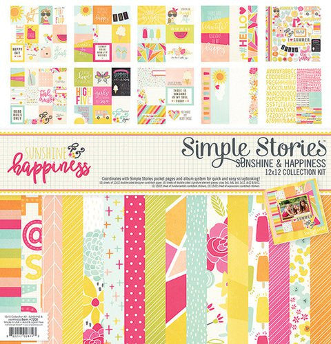 Simple Stories Sunshine & Happiness 12x12 Collection Kit