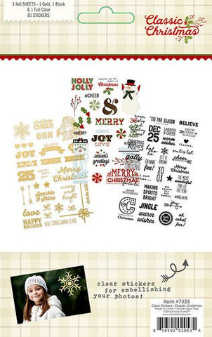 Simple Stories Classic Christmas Clear Stickers