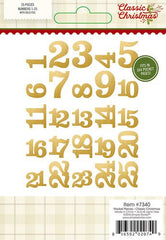 Simple Stories Classic Christmas Pocket Pieces Gold Foil Numbers
