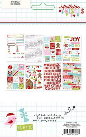 Simple Stories Mistletoe Kisses Stickers