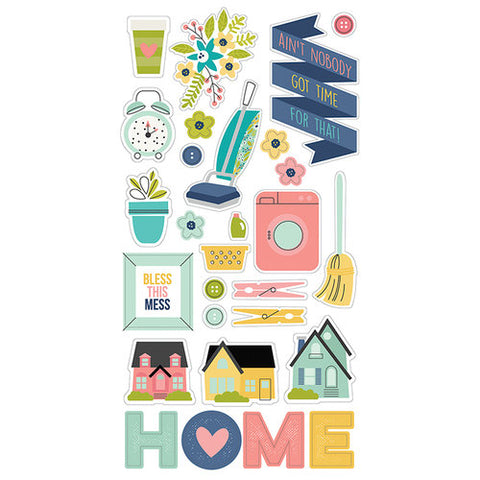 Simple Stories Domestic Bliss Chipboard Stickers