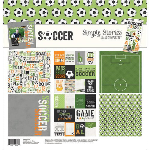 Simple Stories 12x12 Simple Set Soccer