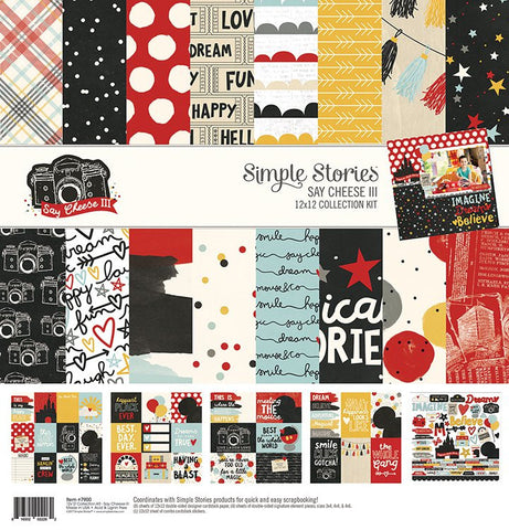 Simple Stories 12x12 Collection Kit Say Cheese lll