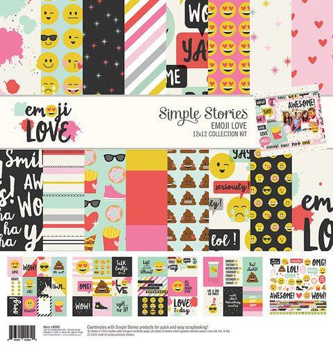 Simple Stories 12x12 Collection Kit Emoji Love