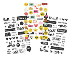 Simple Stories Emoji Love Clear Stickers